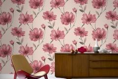 Wallpaper-Dinding-Bunga-Merah